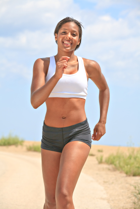 Healthy Natural Looking Young African American Female Runner