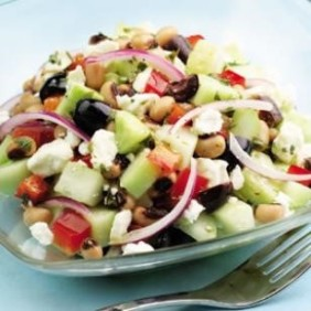 Cucumber,BlackEyesPeasSalad